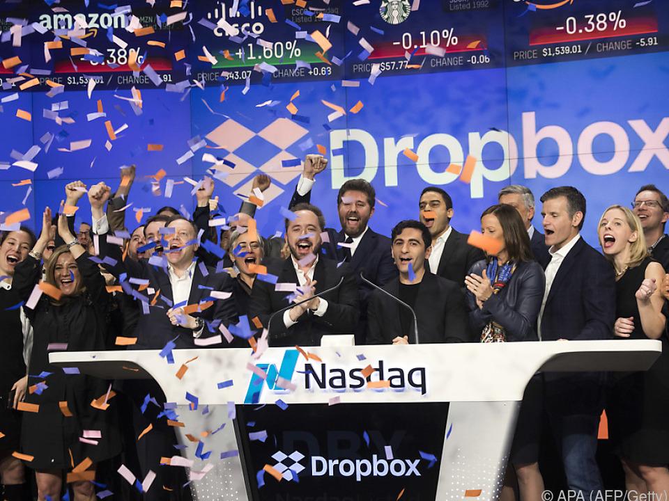 Gelungenes Börsendebüt von Dropbox
