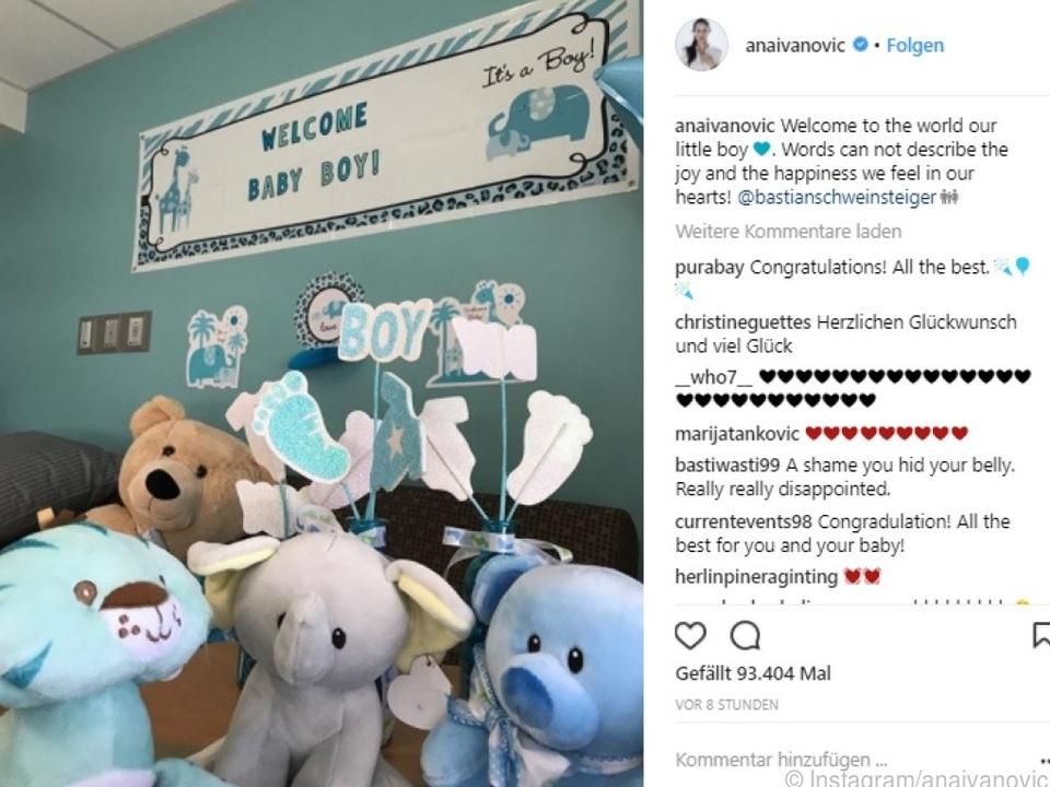 Ivanovic postete dieses Foto auf Instagram