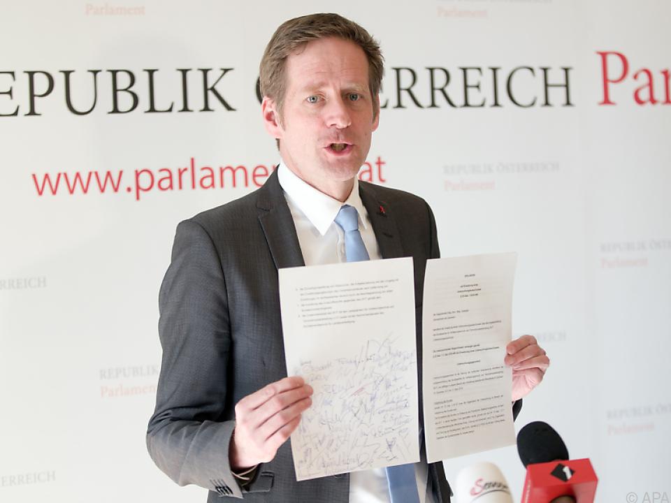 Jan Krainer präsentierte SPÖ-Verlangen zur Causa BVT