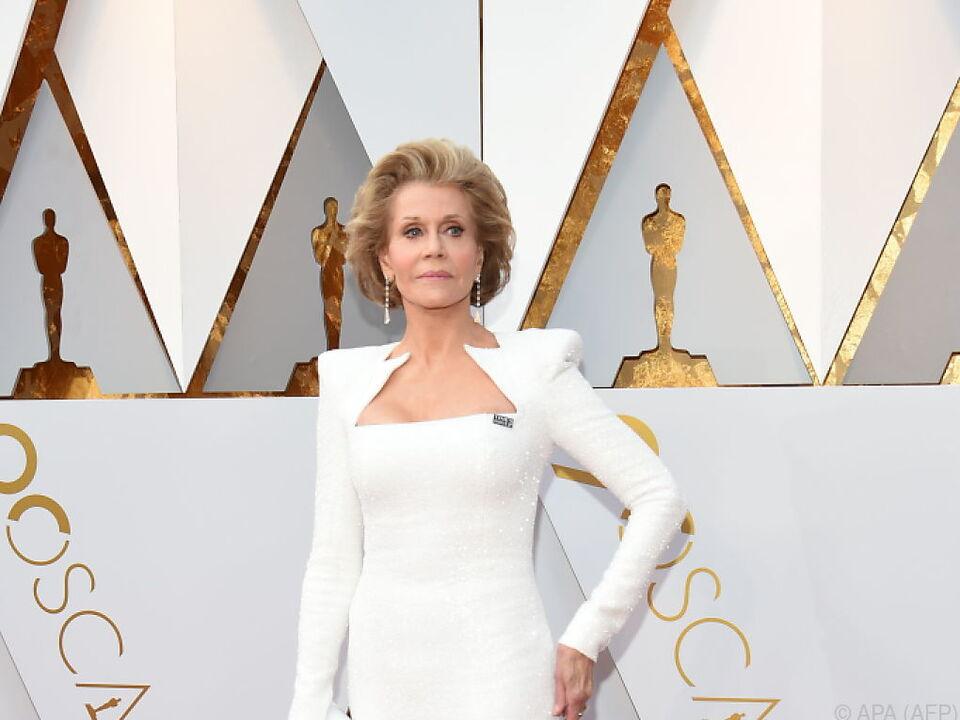 Jane Fonda überzeugte in Sachen Outfit