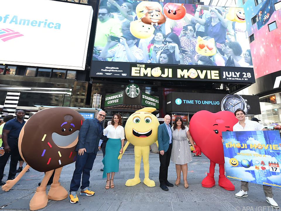 Kein Grund zur Freude den Emoji-Cast