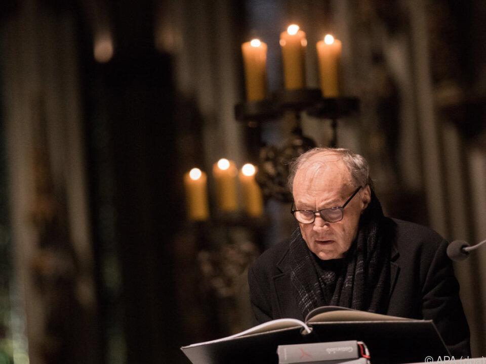 Klaus Maria Brandauer las im Kölner Dom