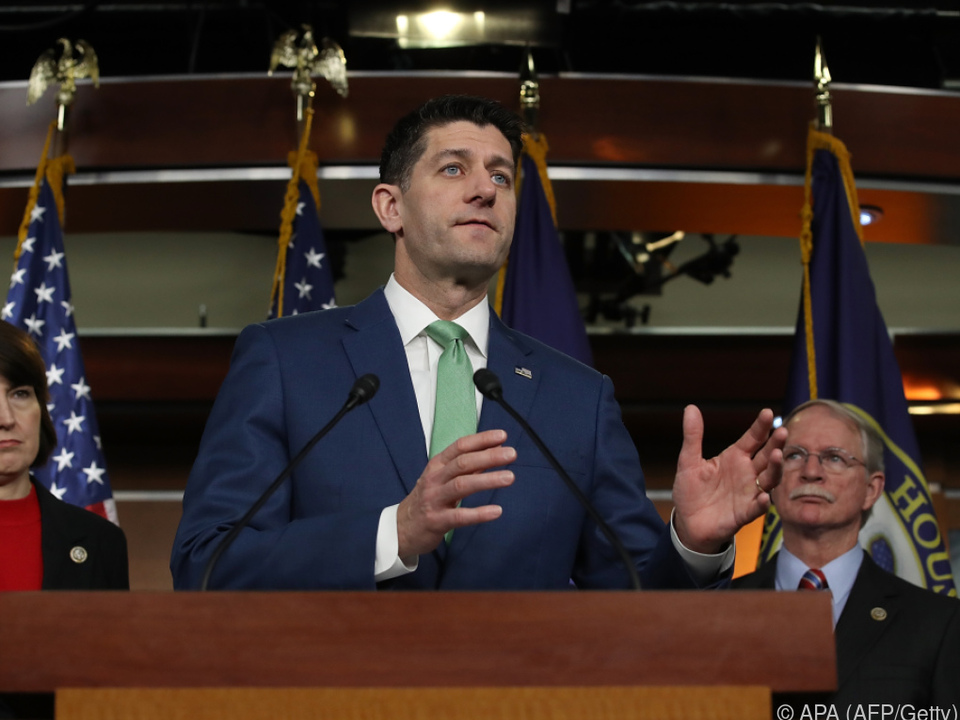 Kongress-Sprecher Paul Ryan während der Debatte