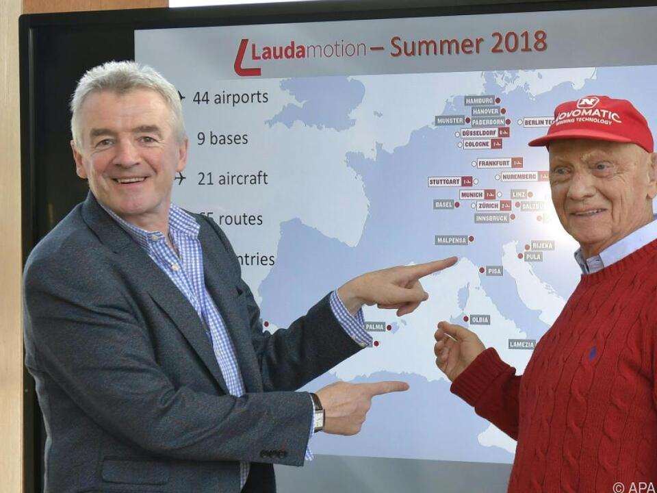 Lauda mit Ryanair-Chef Michael O\'Leary