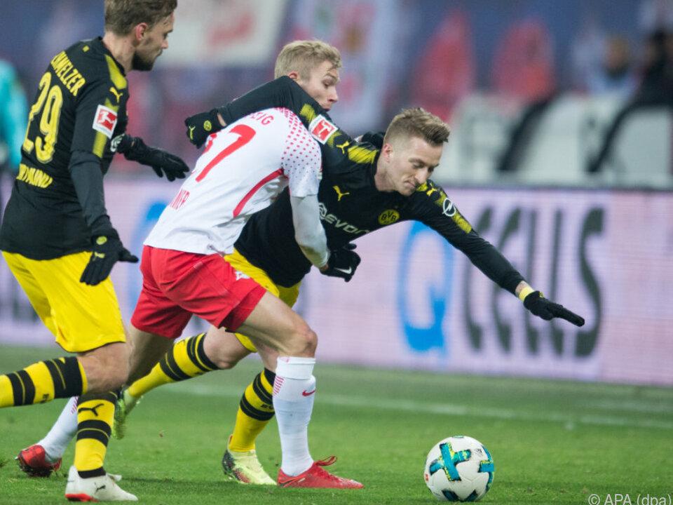 Leipzig und Dortmund lieferten sich einen Fight