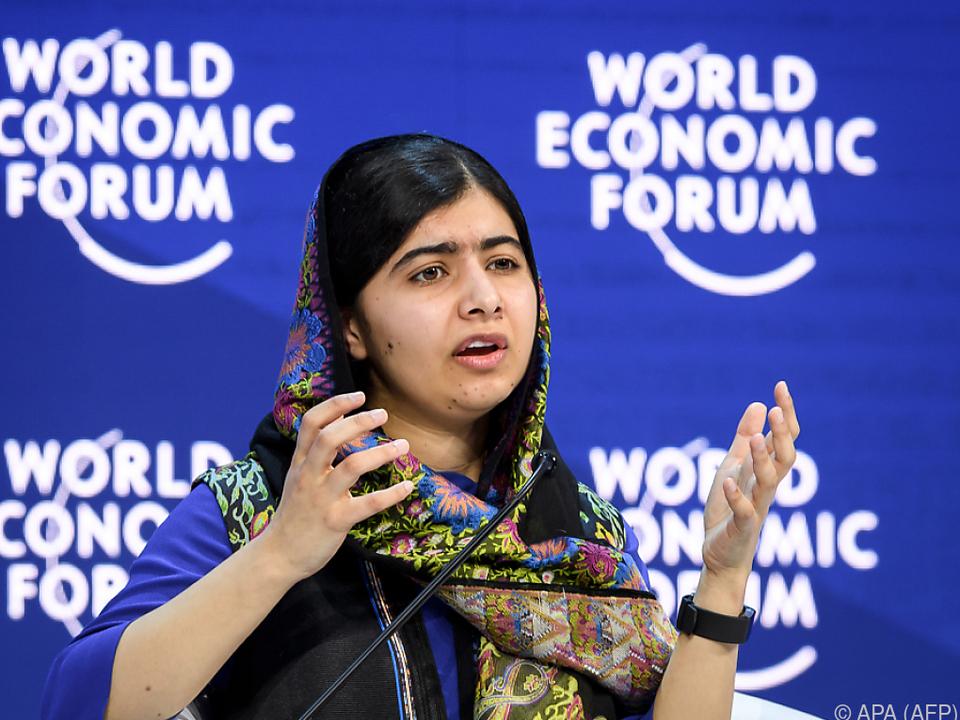 Malala Yousafzai setzt sich für Schulbildung von Mädchen ein