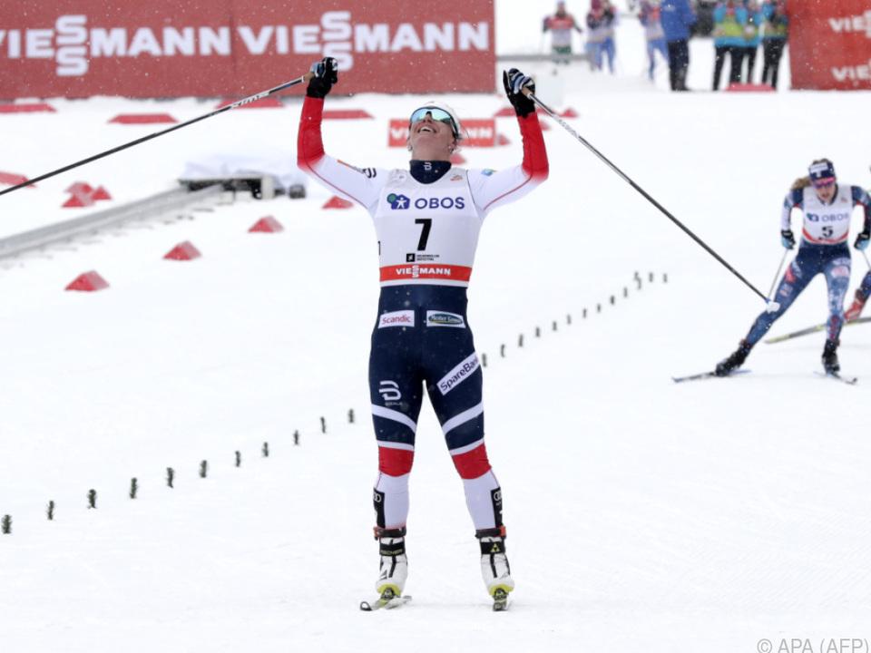 Marit Björgen zündete den Turbo