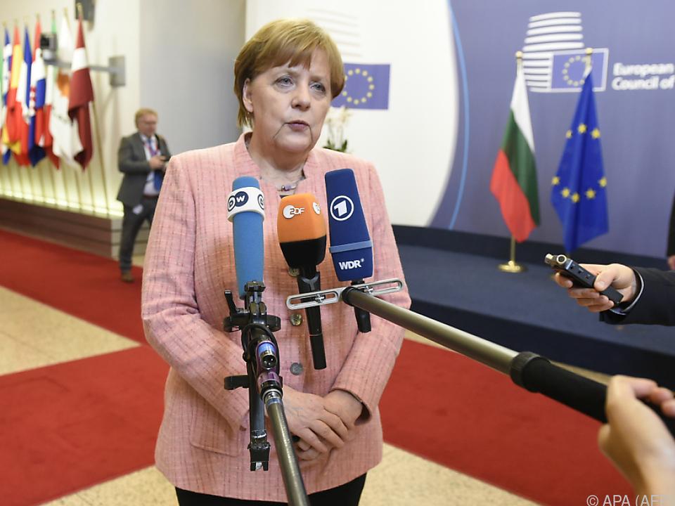 Merkel zeigte sich zuversichtlich