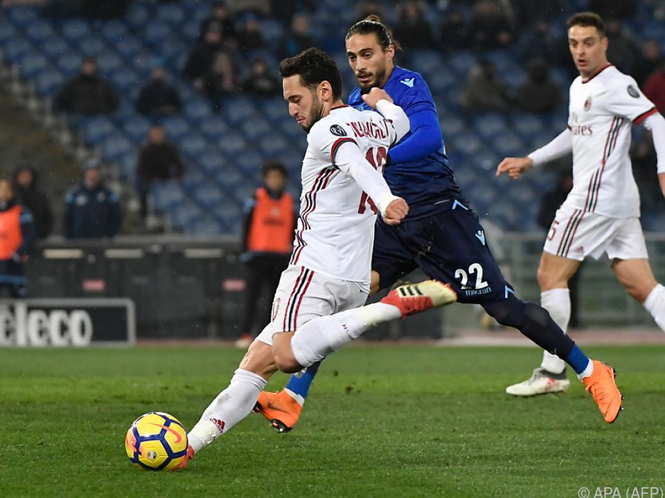 Milan setzte sich gegen Lazio durch