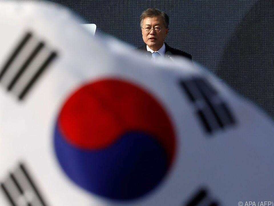 Moon Jae-in telefonierte am Donnerstag mit Trump