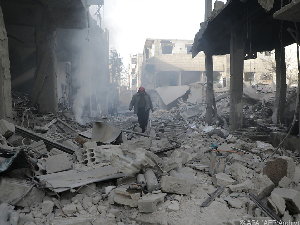 Ost-Ghouta gleicht einem Trümmerhaufen