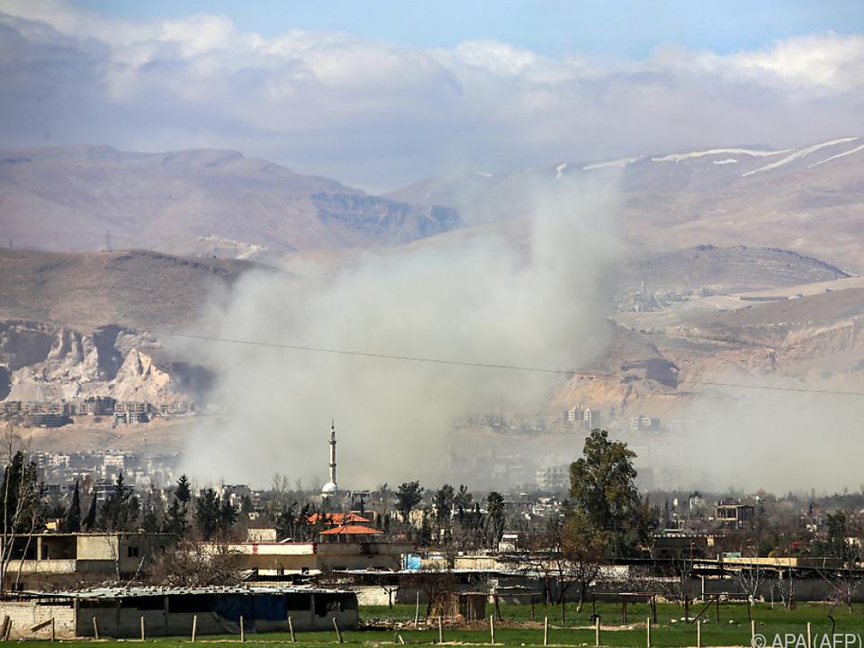 Ost-Ghouta ist weiterhin schwer umkämpft