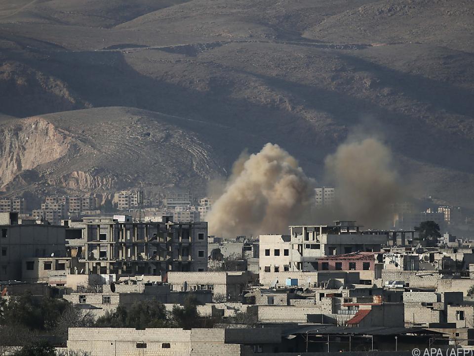 Ost-Ghouta steht unter Beschuss