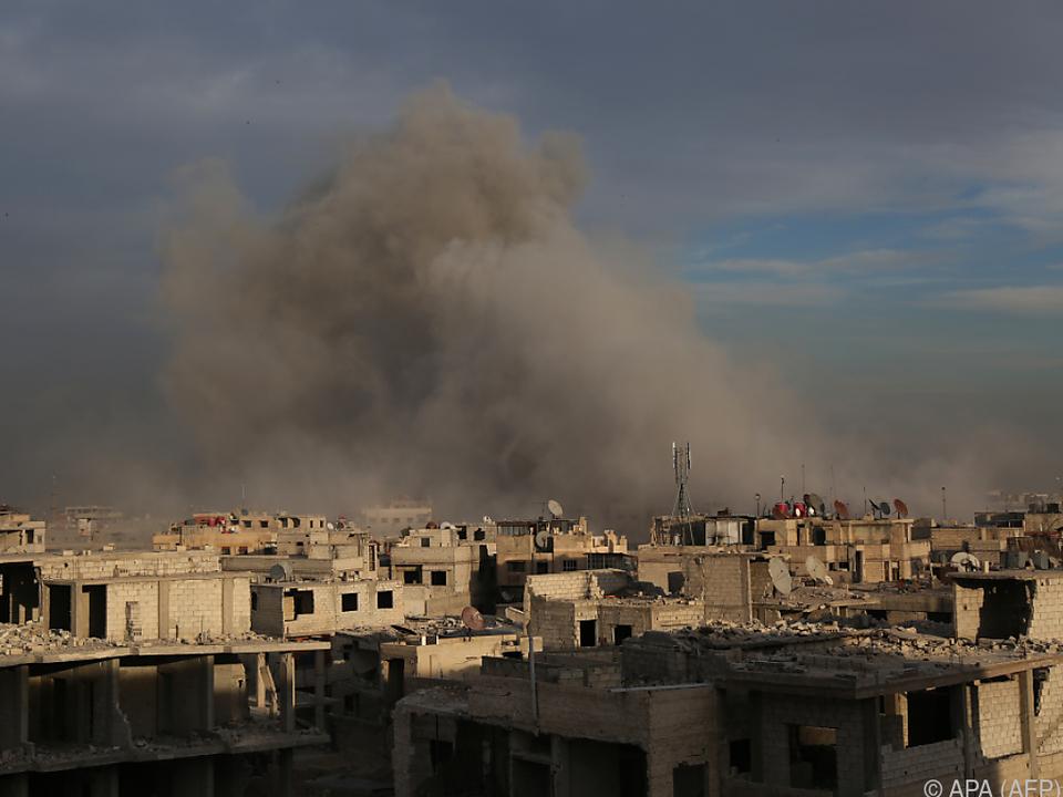 Ost-Ghouta weiter unter Beschuss