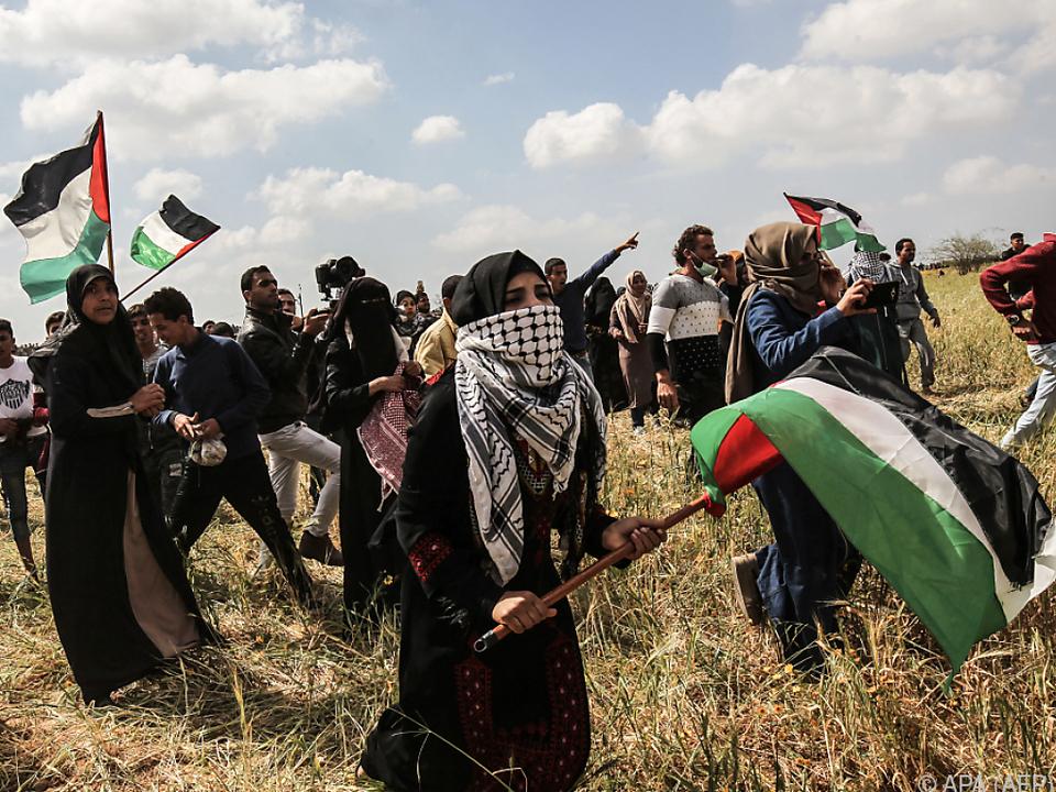 Palästinenser standen unter Beschuss Israels
