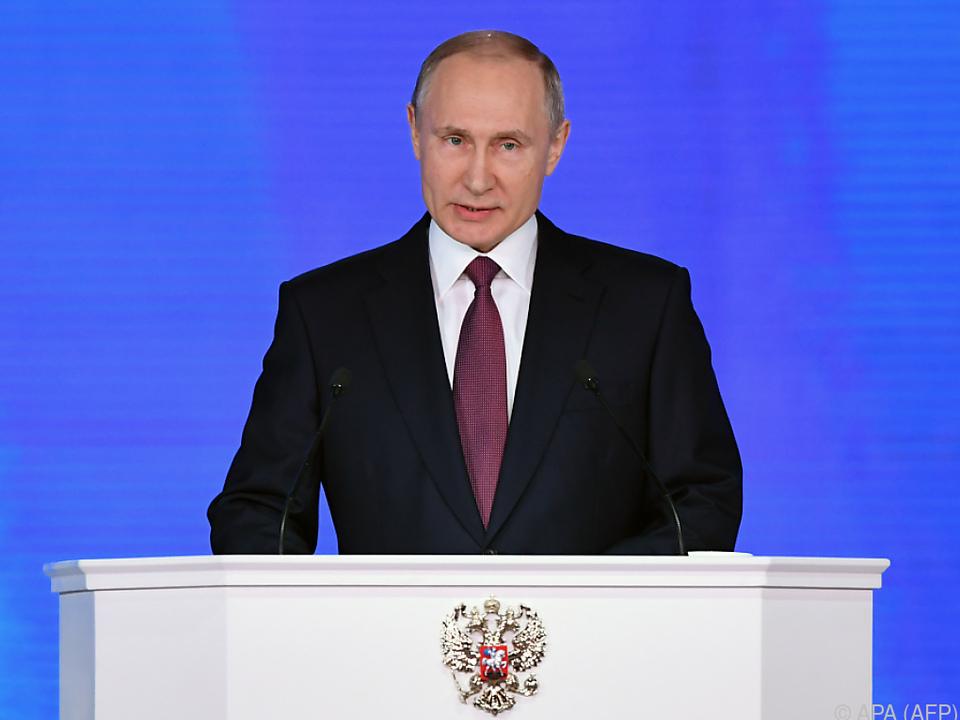 Präsident Putin präsentierte Anfang März neuartige Nuklearwaffen