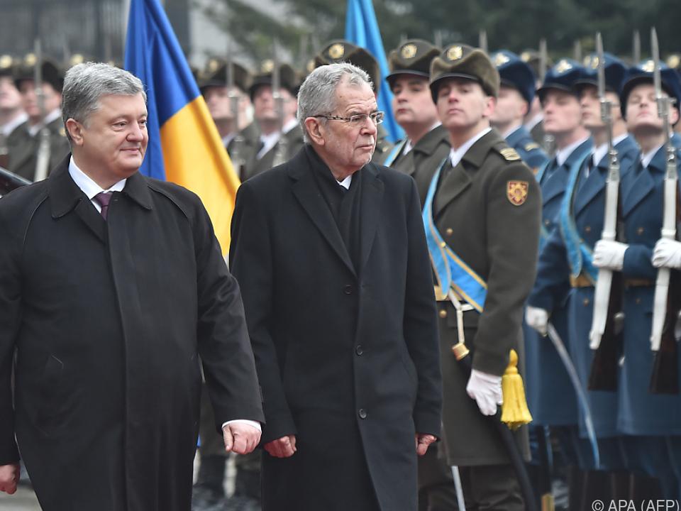 Präsident Van der Bellen wurde mit allen Ehren empfangen