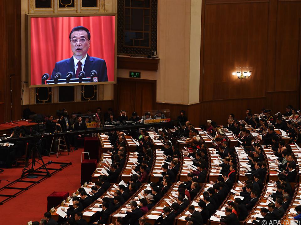 Premier Li Keqiang eröffnete den Volkskongress
