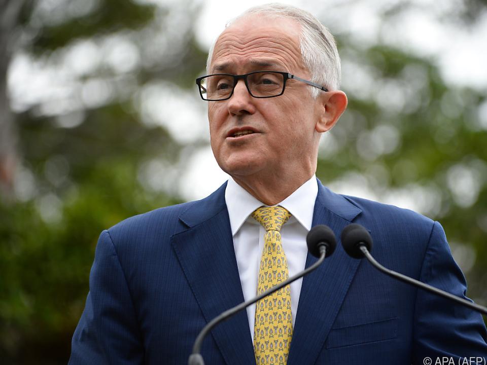 Premier Turnball sprach von historischem Moment