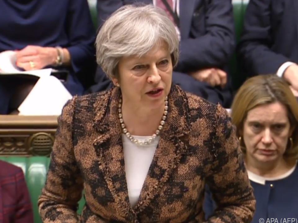 Premierministerin Theresa May sprach vor dem Parlament