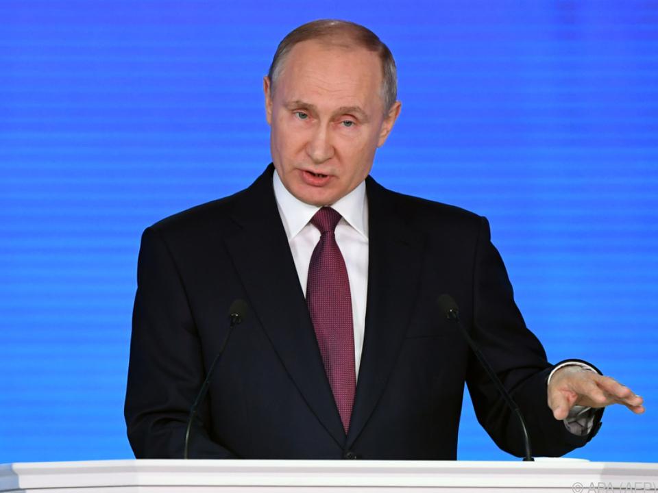 Putin gab Entwicklung neuer Atomwaffen bekannt