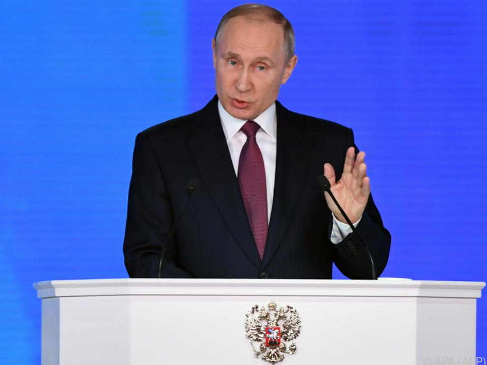 Putin hält seine jährliche Rede zur Lage der Nation