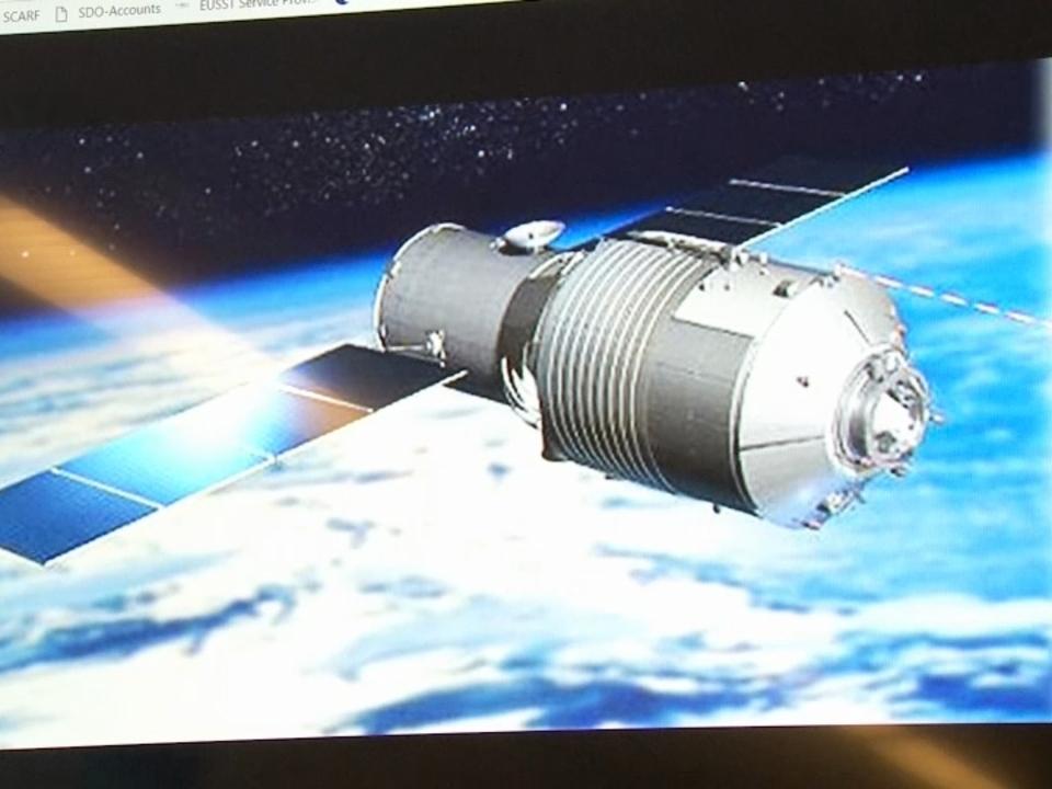 Raumstation aus China befindet sich im Sinkflug Richtung Erde