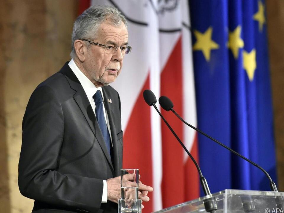 Rede von Bundespräsident Alexander Van der Bellen in der Hofburg