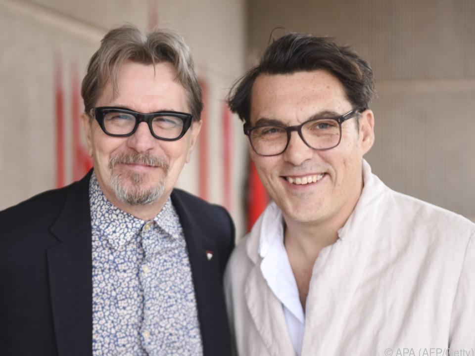 Regisseur Wright, hier mit Gary Oldman, wagt sich an ein neues Projekt