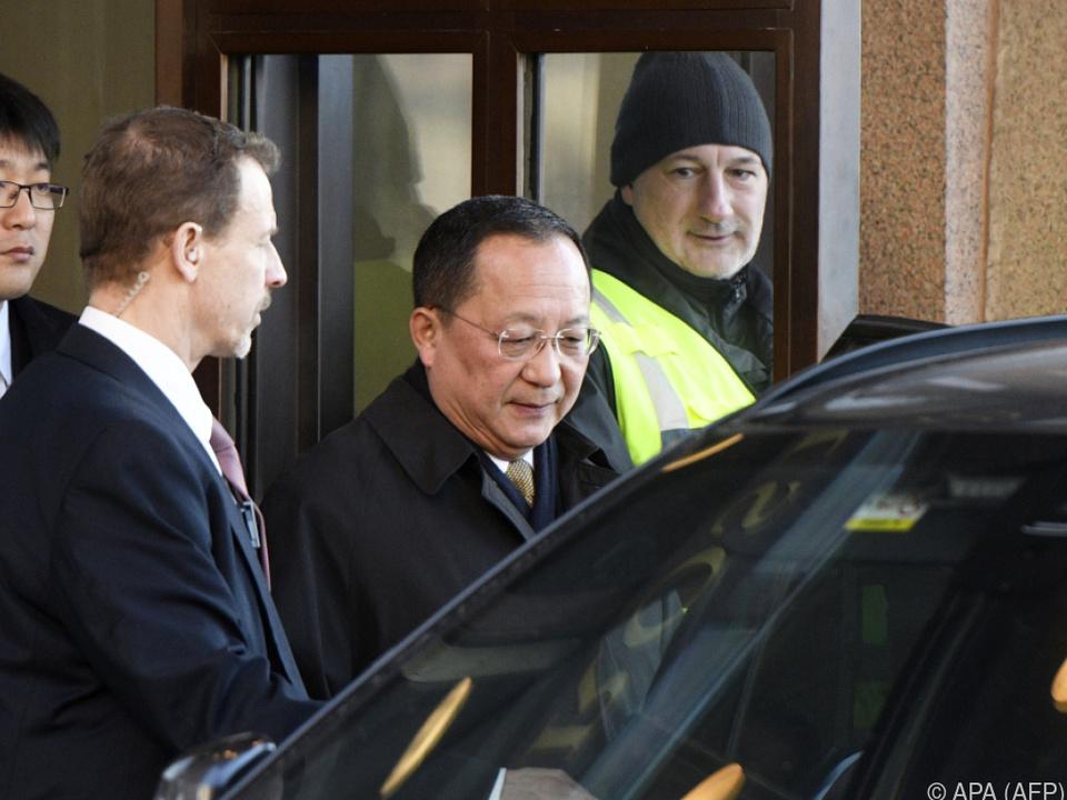 Ri Yong-ho weilt selten im Ausland