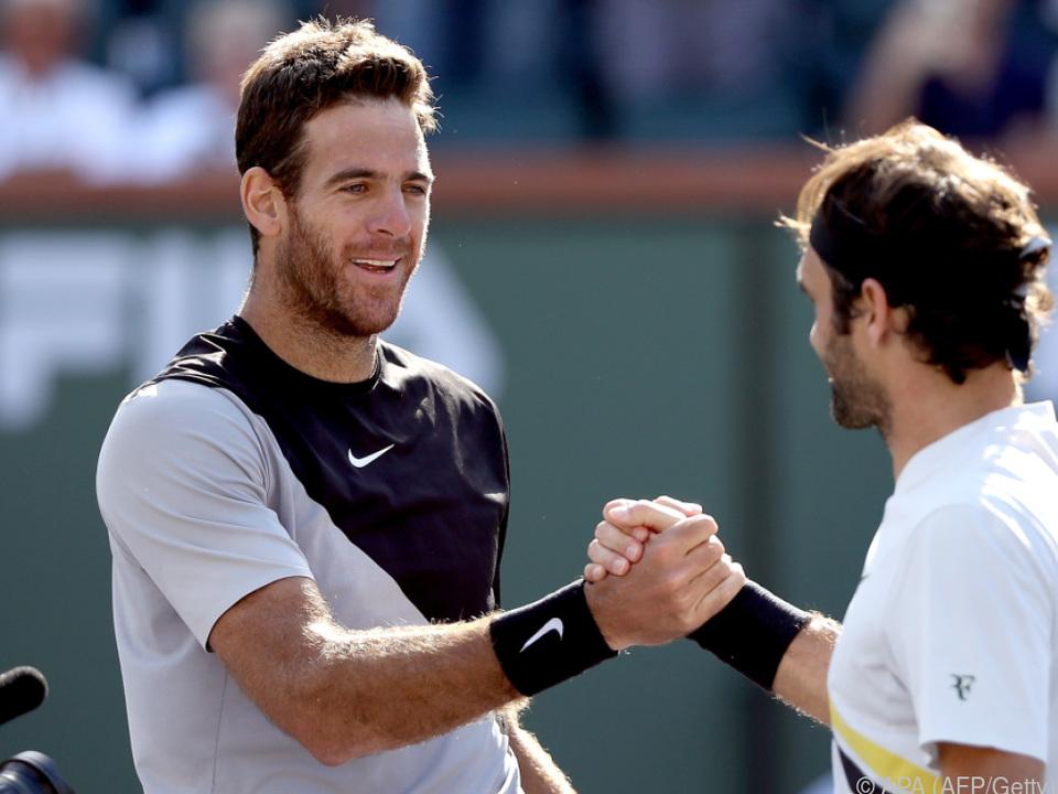 Roger Federer gratuliert Juan Manuel Del Potro