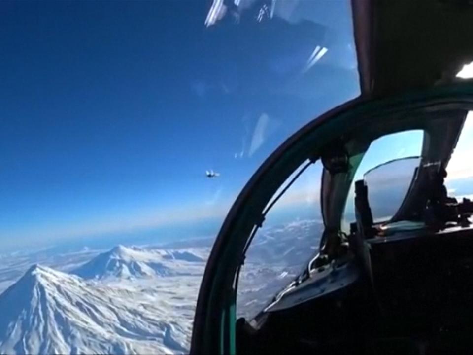 Russische Kampfflugzeuge über dem Nordpol