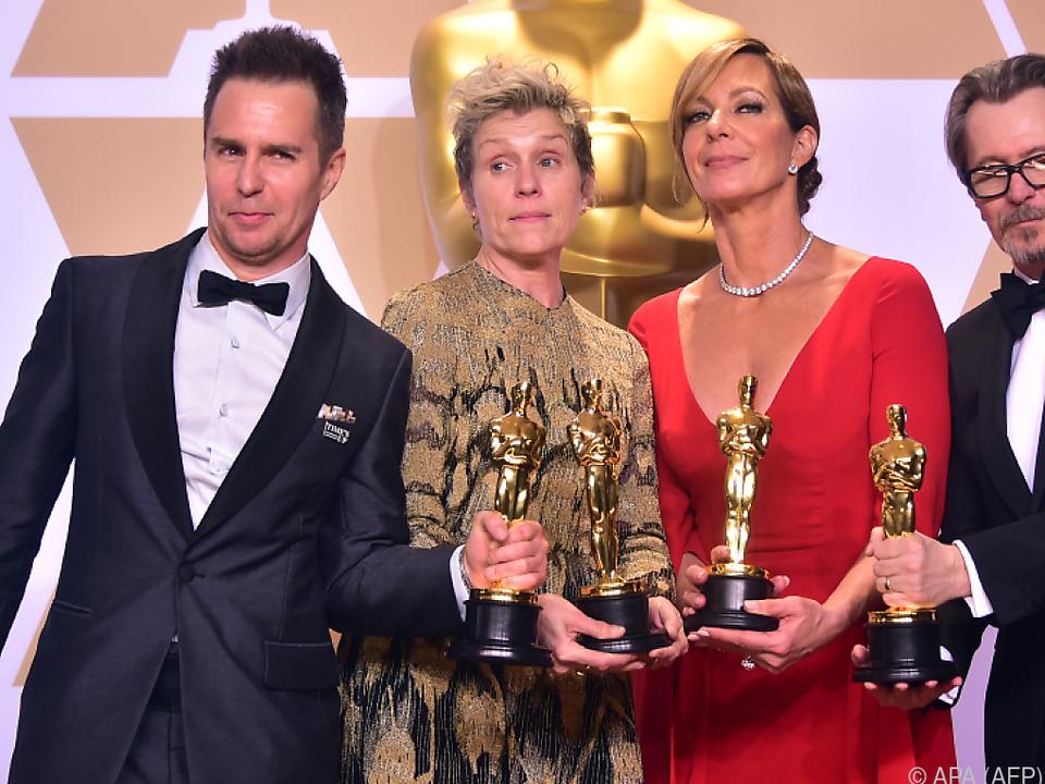 Sam Rockwell, Frances McDormand, Allison Janney und Gary Oldman