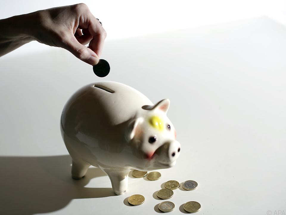 Sparen ist nicht mehr so sehr in Mode