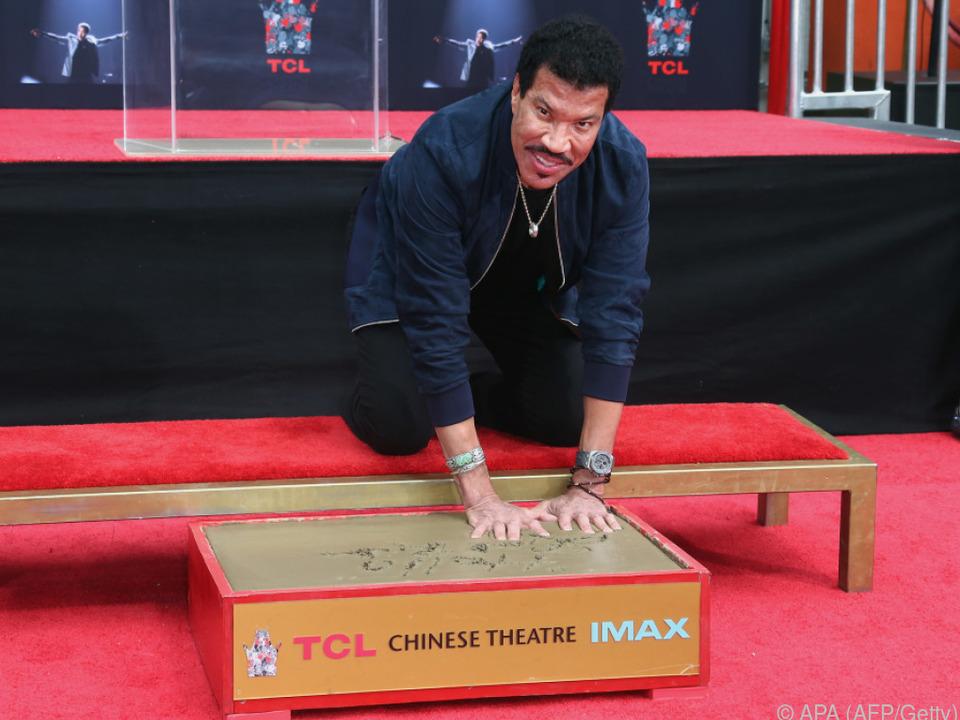 US-Soulsänger Lionel Richie hat sich verewigt