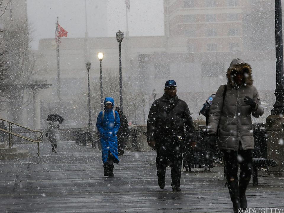 Vierter Schneesturm in USA binnen drei Wochen