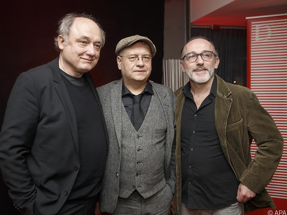 Von links: Schauspieler Fischer, Regisseur Frosch und Karl Markovics