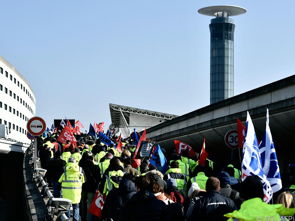 Wieder Streik bei er französischen Fluglinie