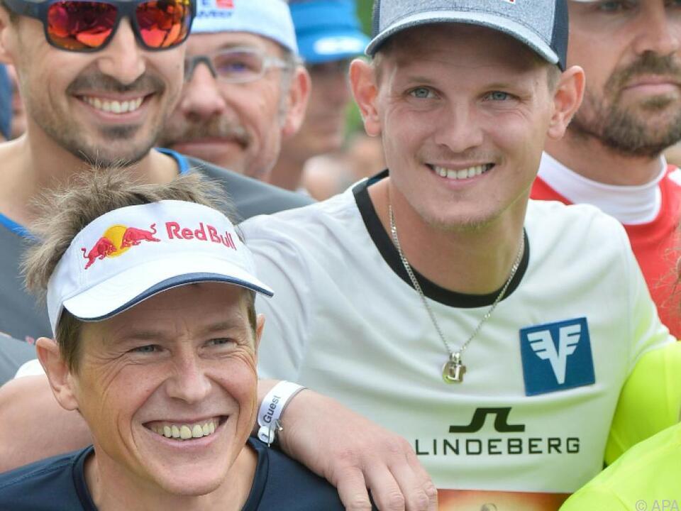 Auch Andreas Goldberger und Thomas Morgenstern laufen wieder