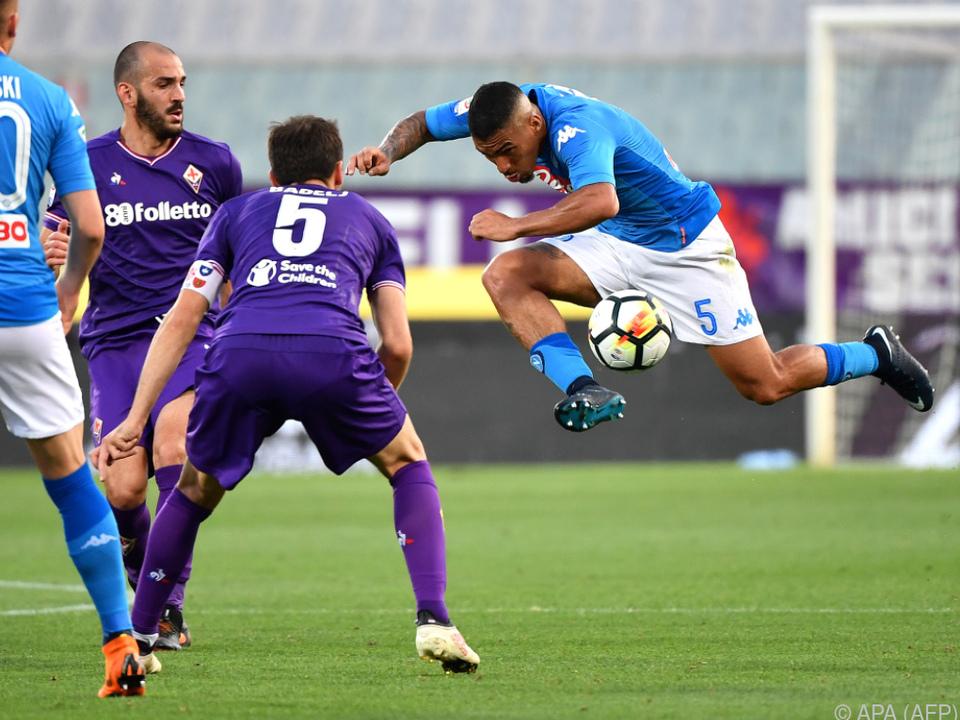 Auch diese akrobatische Einlage brachte Napoli keinen Punkt