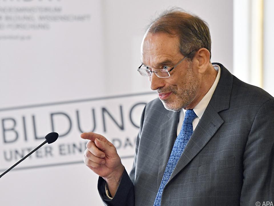 Bildungsminister Heinz Faßmann: \