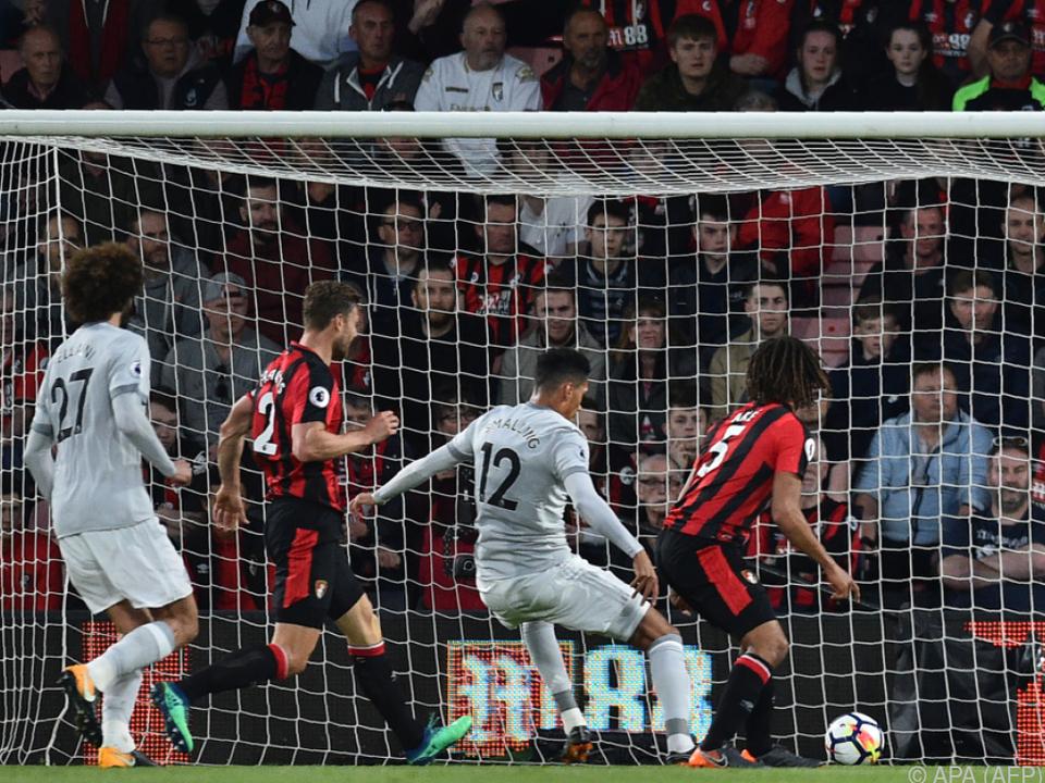 Chris Smalling netzt für Manchester United