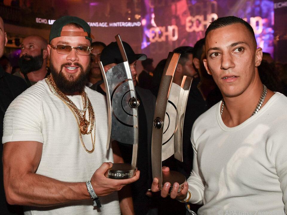 Das Rapper-Duo Kollegah und Farid Bang
