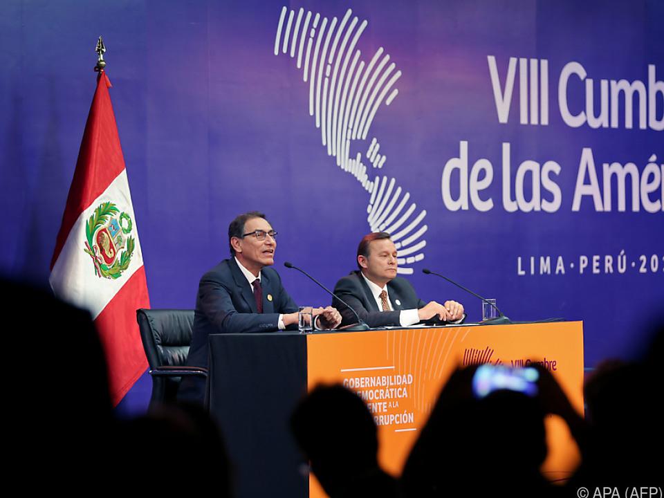 Der peruanische Staatschef Martin Vizcarra ist selbst erst kurz im Amt