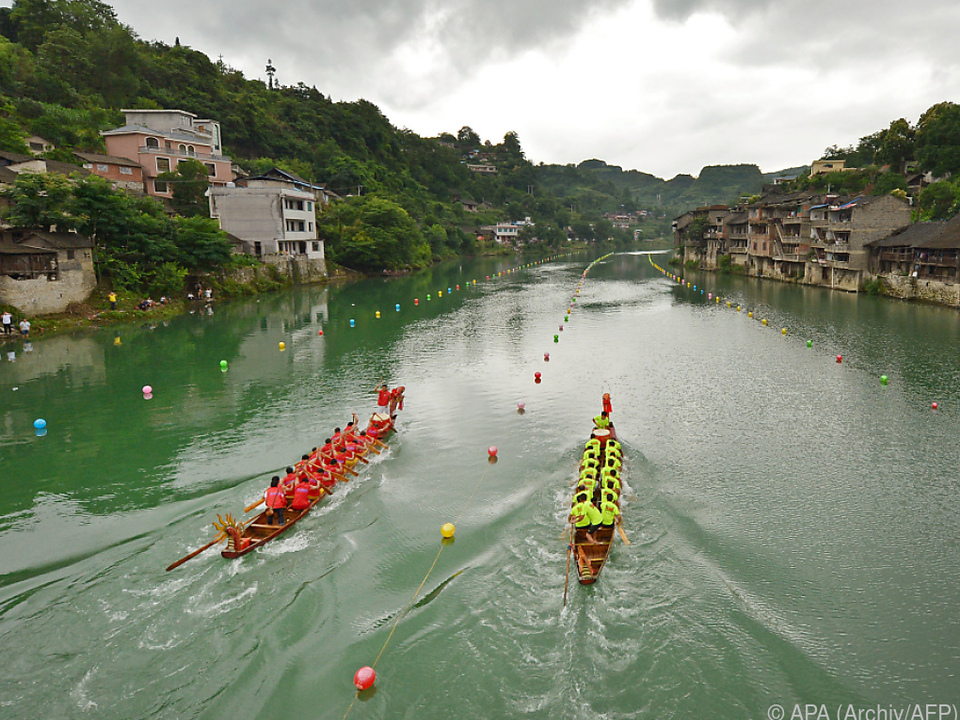 Drachenboot-Rennen haben in China Tradition
