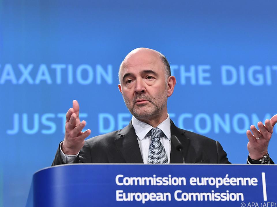EU-Währungskommissar Moscovici zeigte sich skeptisch