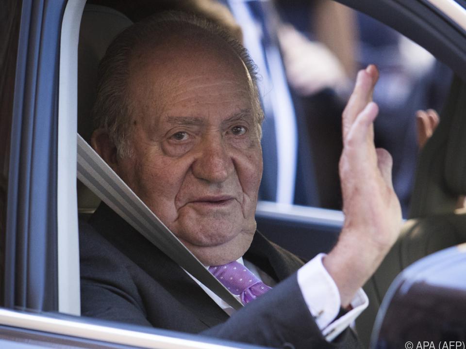 Ex-König Juan Carlos von Spanien ist auf dem Weg der Genesung