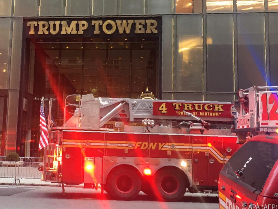 Feuer im 50. Stock des Gebäudes