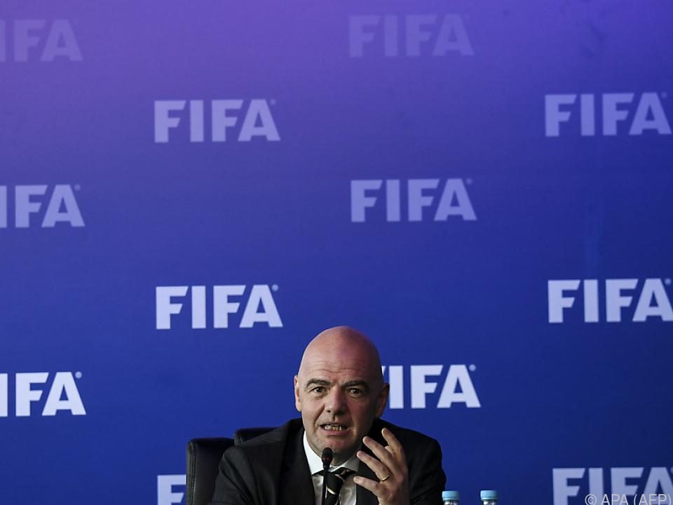 FIFA-Präsident Gianni Infantino will eine schnelle Lösung