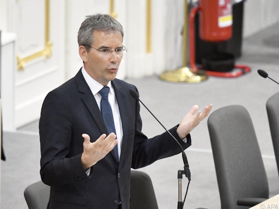 Finanzminister Hartwig Löger während der Budgetdebatte